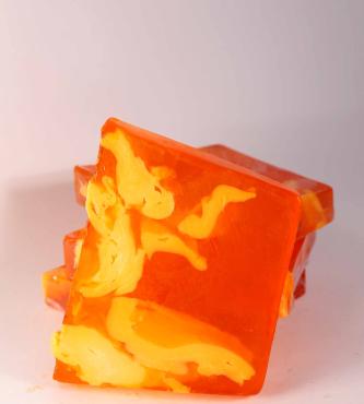 Jabón artesanal de Mandarina