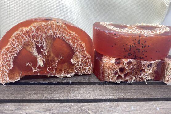 Jabón exfoliante de Fresa