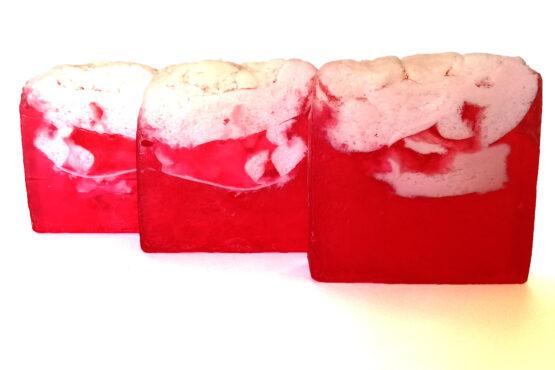Jabón artesanal de Frutos Rojos
